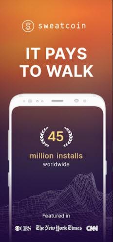 أفضل طرق ربح المال من المشي   تطبيق الربح من المشي Sweatcoin